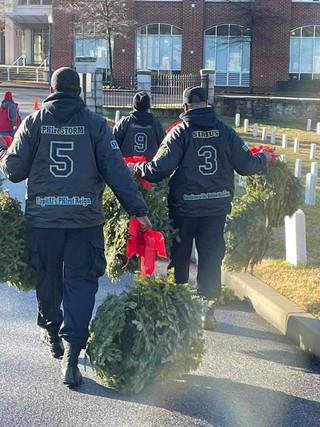 Prez, VP, & Crossbow @ Wreaths Across America event
