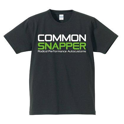 COMMON SNAPPER T shirt black
