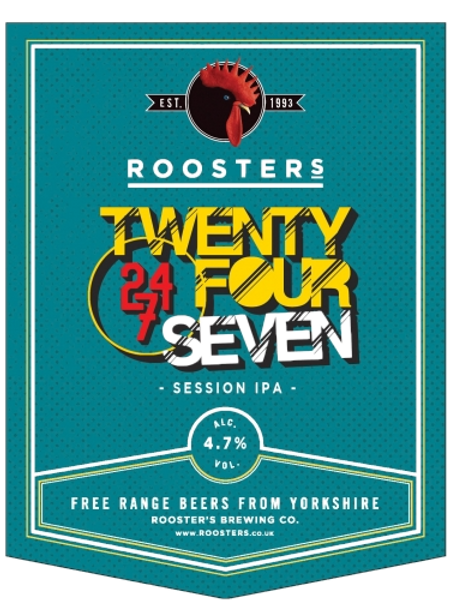4 Pints of The Twenty Four Seven from Roosters