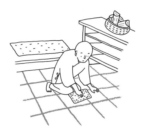 A Monks Guide to a Clean House and Mind, illustration de Kikue Tamura