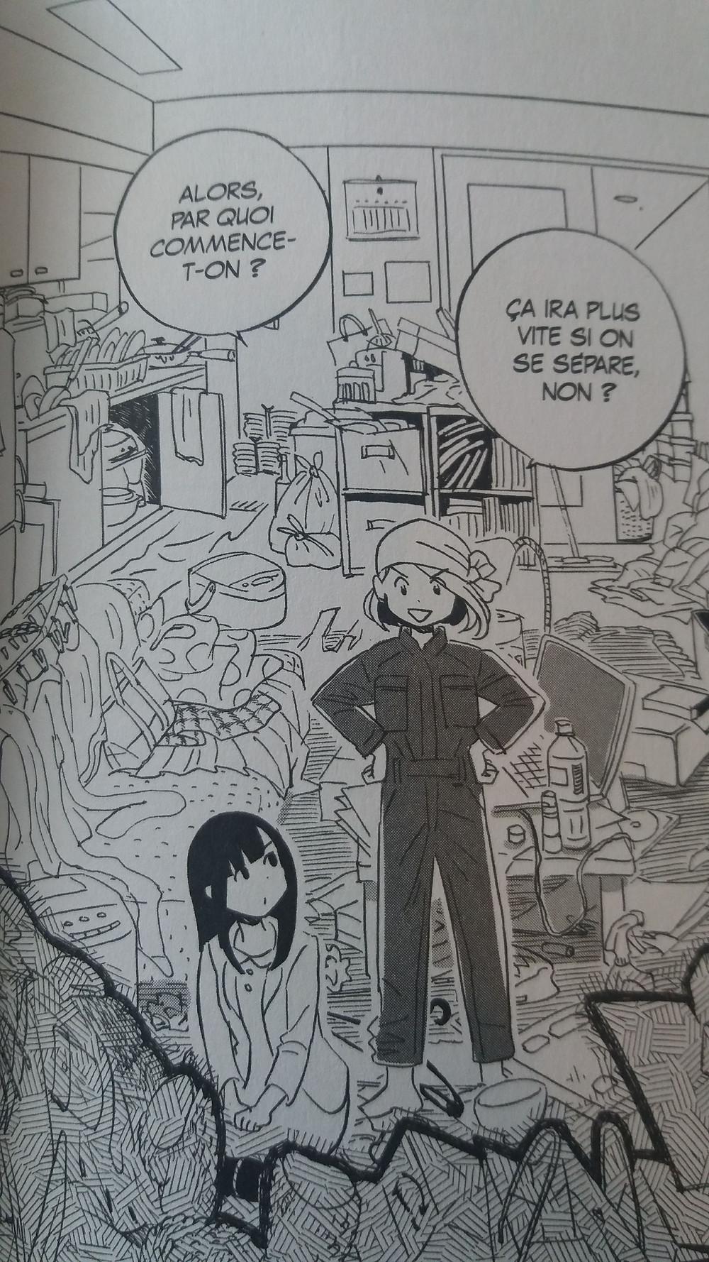 "Extrait de ""La magie du rangement -illustrée-"" de Marie Kondo (dessin : Yoko Uramoto)"