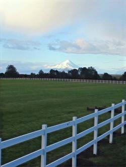 Cancha de Polo y Volcán Osorno