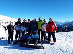 sugli sci a col Margherita