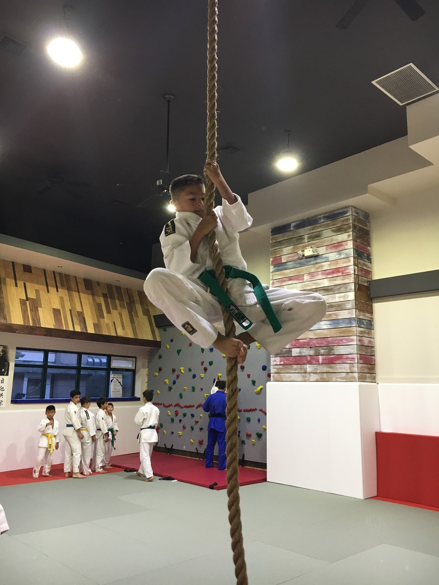 Ropes at ijc judo club, Flushing