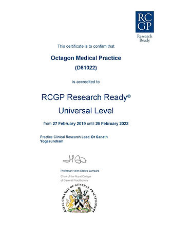 Octagon Research Ready Certificate Feb 2