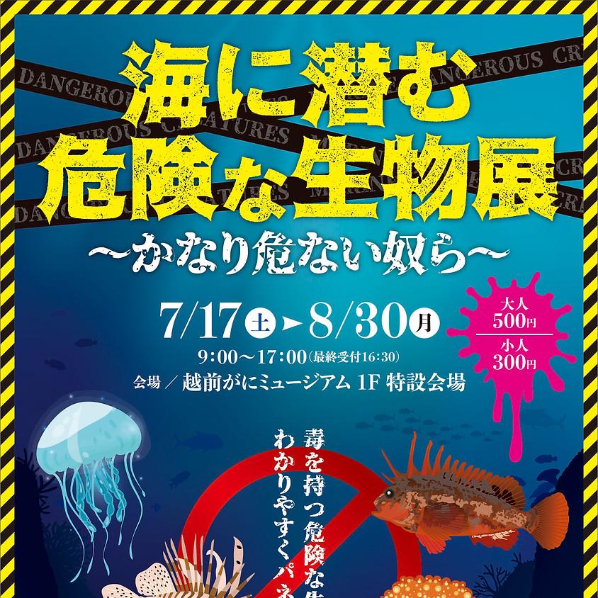 海に潜む危険な生物展~かなり危ない奴ら~