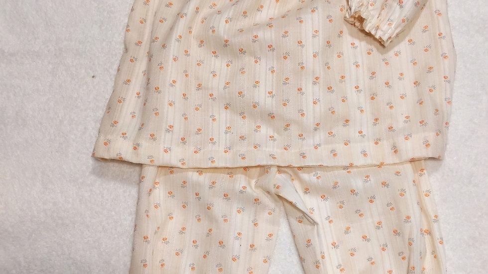 パジャマ寝巻き 身長80センチベビー用品 ハンドメイド 綿100%