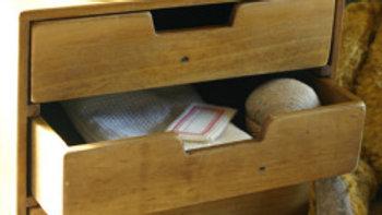 3段裁縫箱 木製収納箱 木箱 アクシス