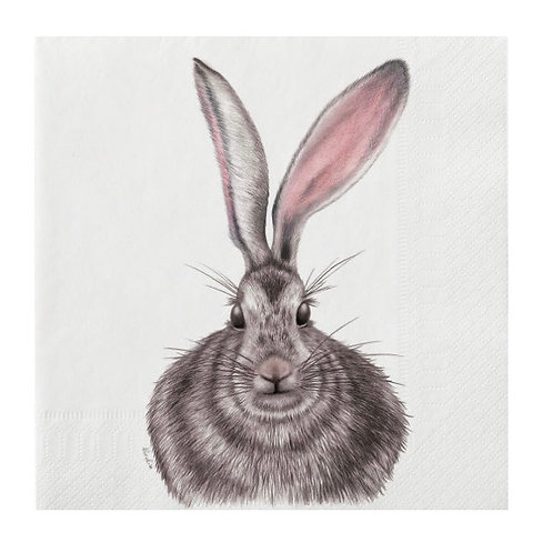 Large Henrietta Hare Napkins 20 Pack