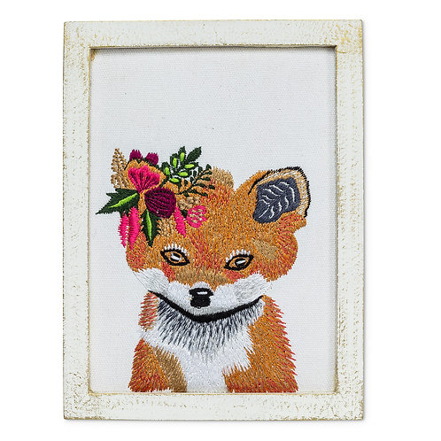 Fox With Flowers Wall Art