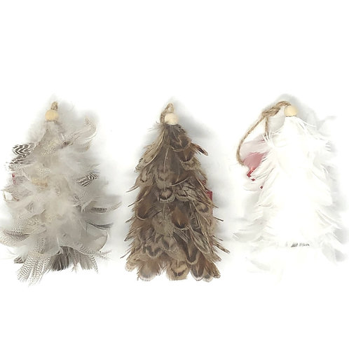 "3"" Feather Christmas Trees"