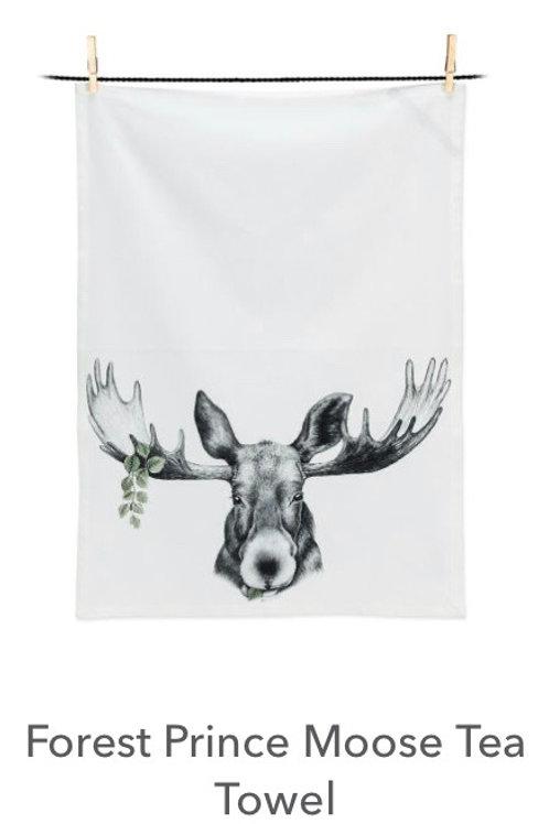 Forest Prince Moose Tea Towel