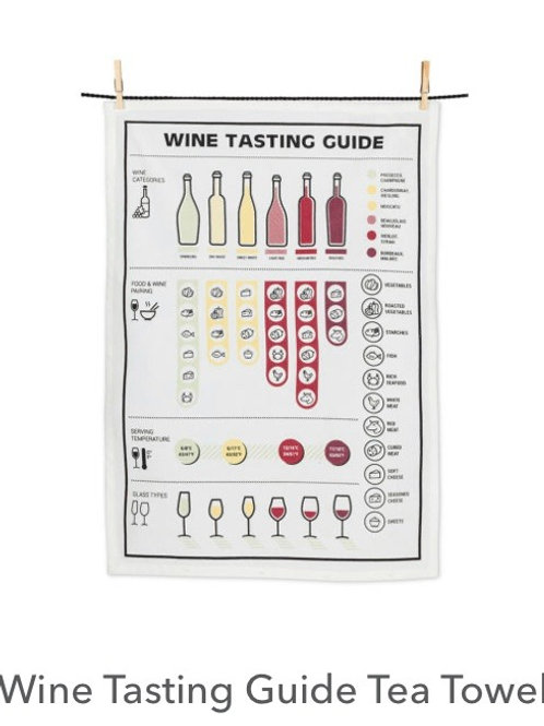Wine Tasting Guide Tea Towell