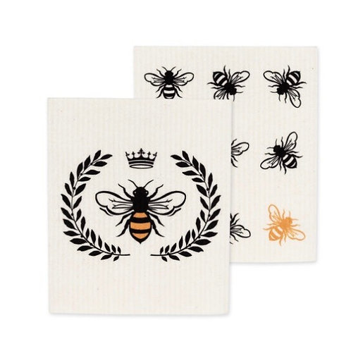 Bee Dish Clothes set of 2