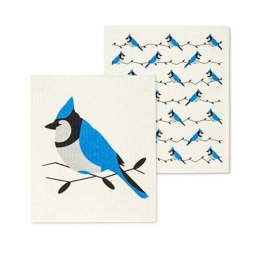 Blue Jay Dish Cloths set of 2