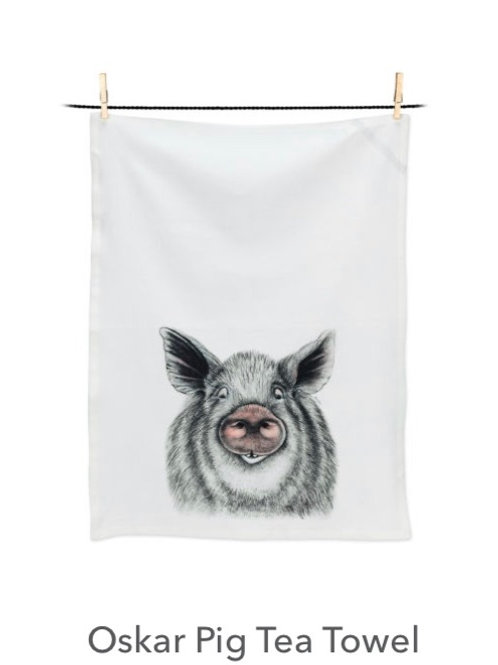 Oskar Pig Tea Towel