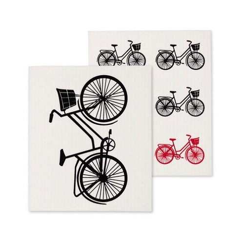 Bicycle Dish Cloths set of 2