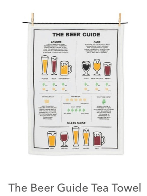 The Beer Guide Tea Towel
