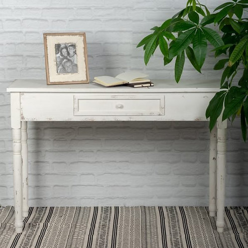 White Wash Wooden Table