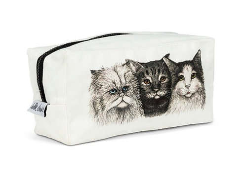 3 Cats Square Pouch