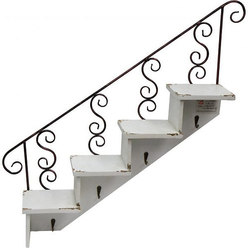 Wooden Wall Shelves in Stair Shape