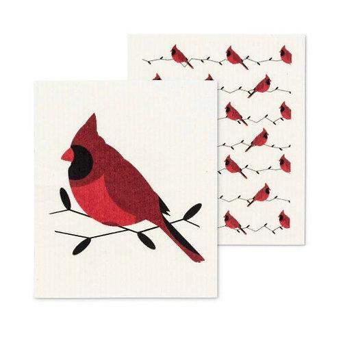 Cardinal Dish Cloths set of 2