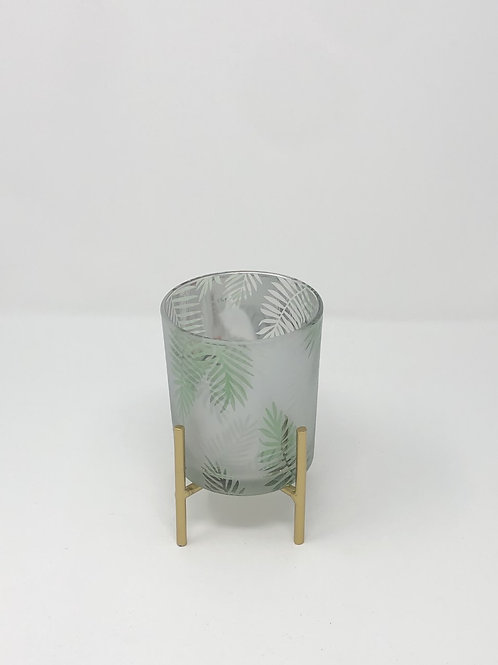 Palm Motif Frosted
