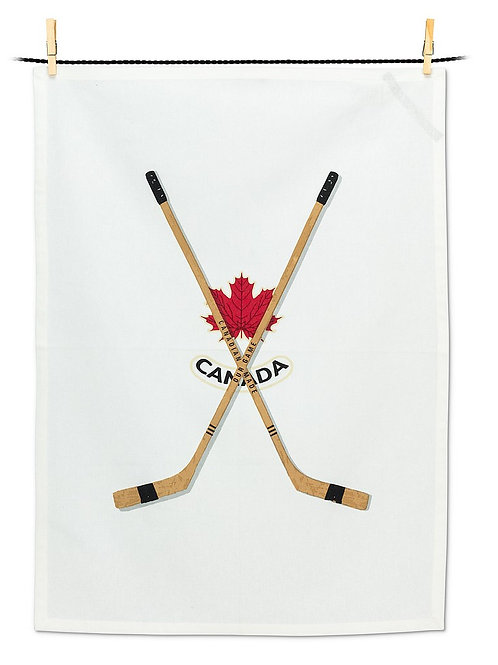 Hockey Sticks Tea Towel