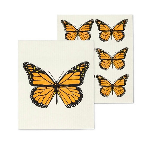 Monarch Butterfly Dish Cloths set of 2