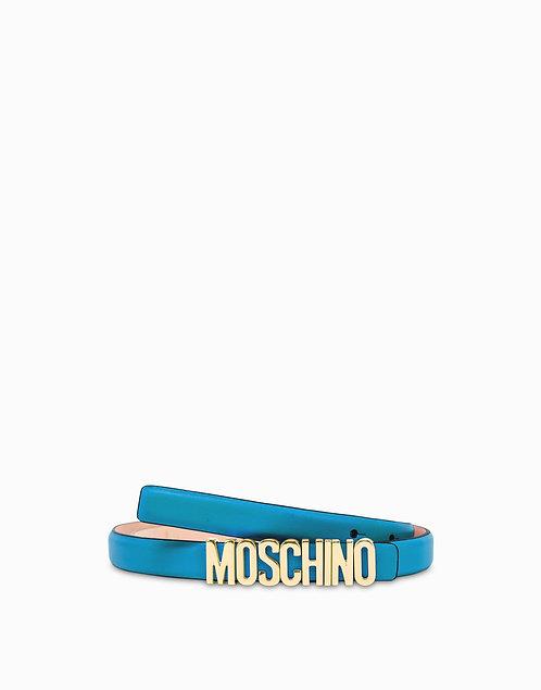 MOSCHINO LOGO BELT Light Blue