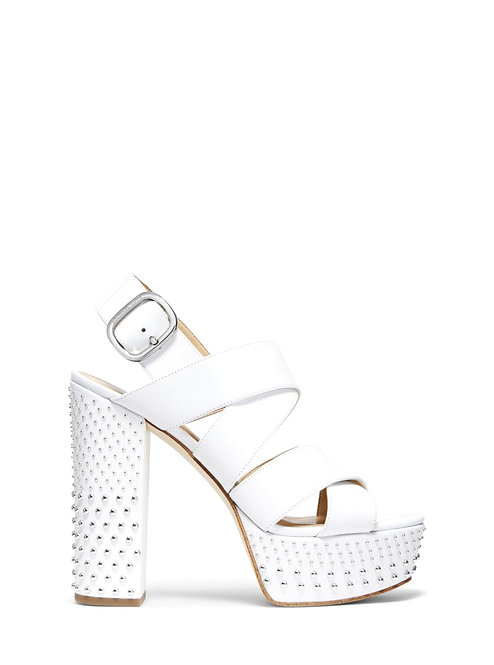 MICHAEL MICHAEL KORS Mila Studded leather platform sandals