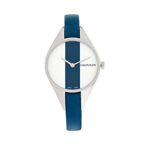 CALVIN KLEINRebel Quartz Silver and Blue Dial Ladies Watch K8P231V6