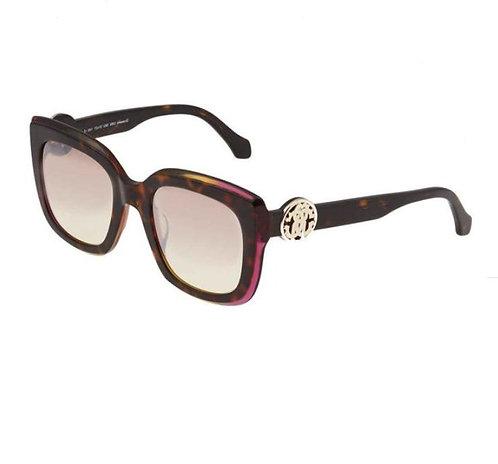 ROBERTO CAVALLIGrosseto Mirrored Bordeaux Square Ladies Sunglasses RC106956U51