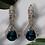 Thumbnail: Wolf Woman Crystal  Rhinestone Teardrop statement earrings  Blue