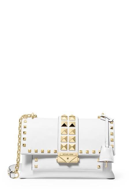 MICHAEL KORS Cece  leather Shoulder Bag  White  medium