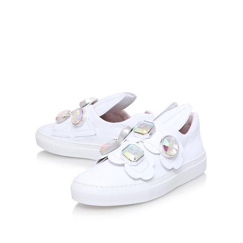 Minna Parikka Powder White Gem Sneakers Women
