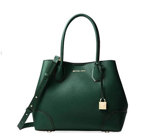 MICHAEL Michael Kors Mercer Gallery Medium Leather Tote Bag, Racing Green
