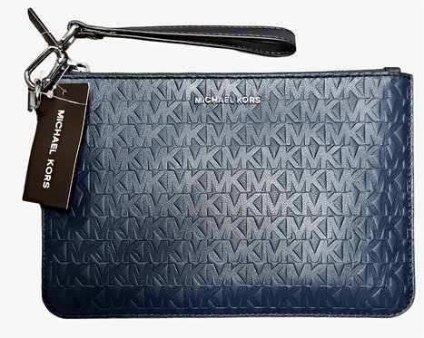 MICHAEL Michael Kors Men Medium Logo Stripe Zip Pouch bag