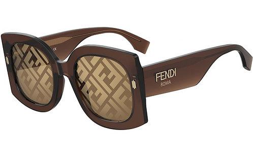 FENDI FF0436/G/S 09Q/7Y Brown/Gold Decor