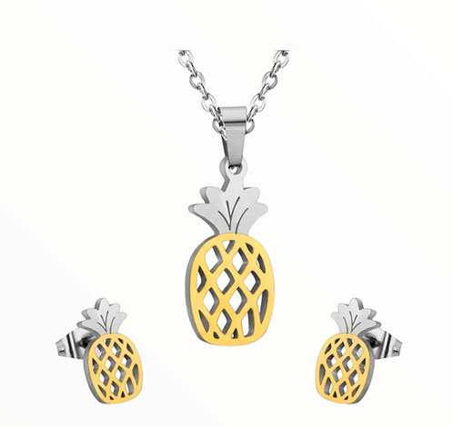Wolf stainless steel pineapple style set Gold/silver colour