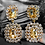 Thumbnail: Wolf Crystals Drop earring Earrings with Rose  stone by Wolf