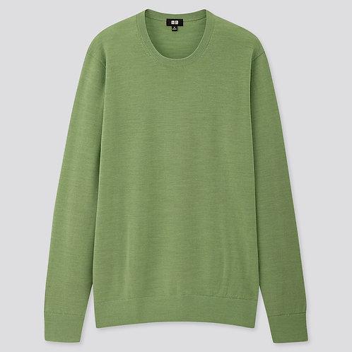 Uniqlo fine extra merino Men sweater Green