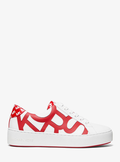 Michael Michael kors Red poppy Graphic Logo Lace up Leather