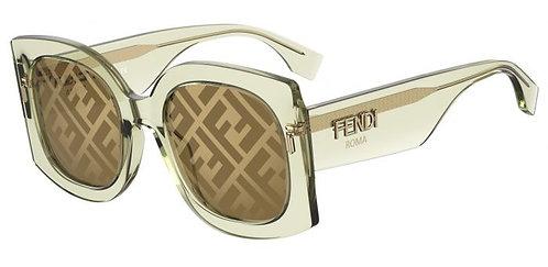 FENDI FF0436/G/S 09Q/7Y Green/Gold Decor