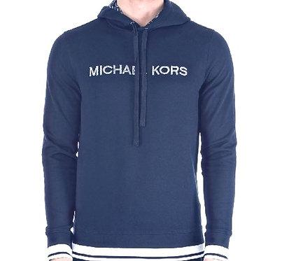 Michael Kors Men's Embroidered Logo Hoodie NAVY