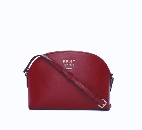 DKNY TOP ZIP DOME CROSSBODY RED