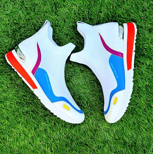 Michael kors walton boot logo trainers White