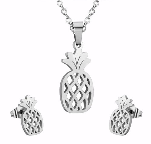 Wolf stainless steel pineapple style set silver colour