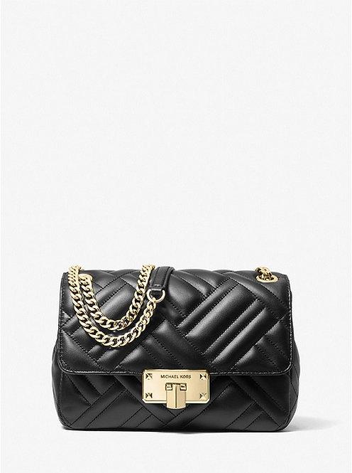 MICHAEL MICHAEL KORS Peyton Medium Quilted Shoulder Bag Black