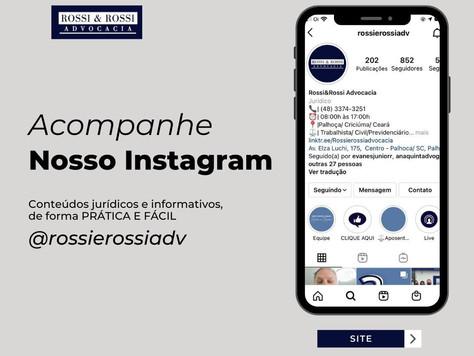 Acompanhe nosso Instagram!